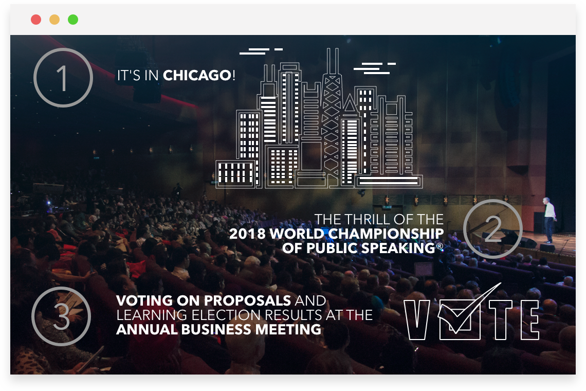 Top Reason to attend the 2018 Toastmasters International Convention