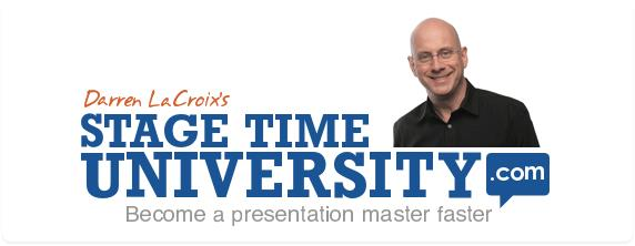 Stage Time University Logo Sponsor 2019 Toastmasters International Convention