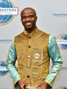 Aaron Beverly Toastmasters WCPS First Place