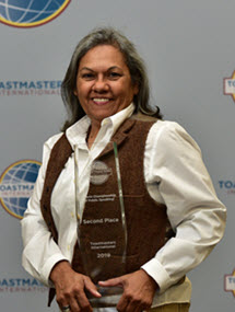 Luisa Montalvo Toastmasters WCPS 2nd Place