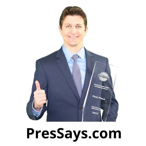 Toastmasters International Convention Exhibitor Pres Says