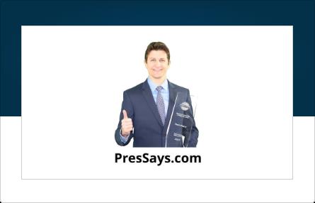 Pres Says Logo Exhibitor Sponsor