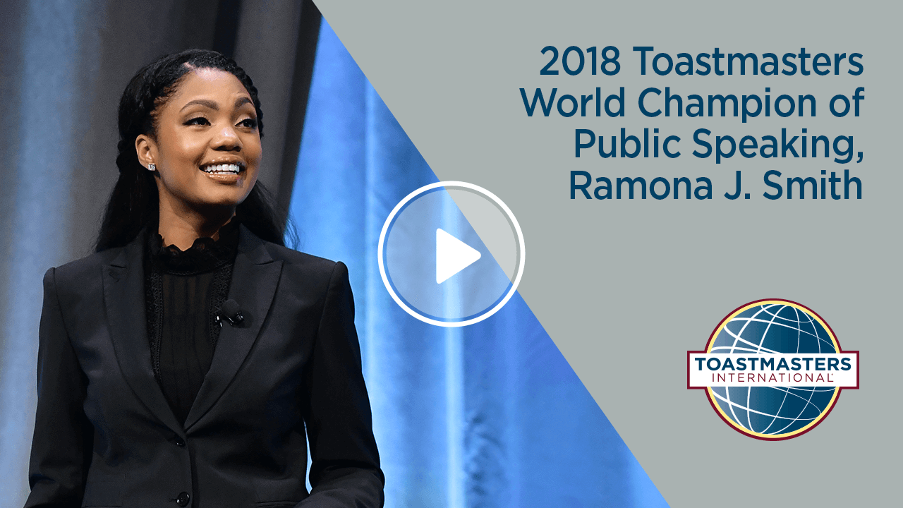 2018 Toastmasters World Champion of Public Speaking, Ramona J. Smith