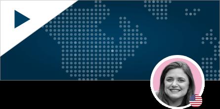 Katie Rigsby Headshot on World Map Background