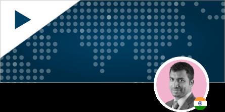 Saveen Hedge Headshot on World Map Background