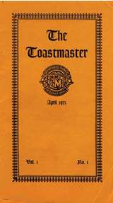 First Toastmaster Magazine Issue