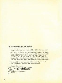 Jerry M. Patterson Letter