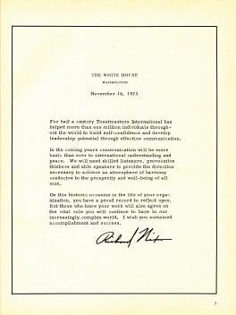 Richard Nixon Letter