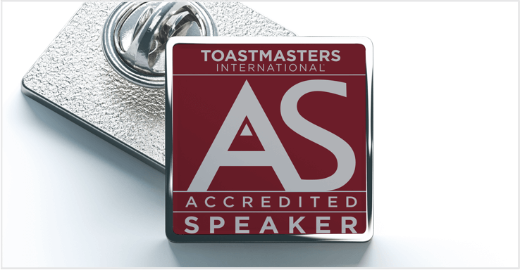 Accredited Speaker Pin Picture
