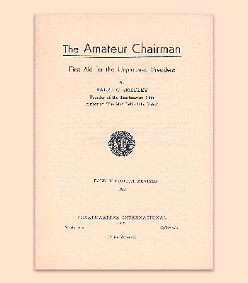 Amateur Chairman Manual