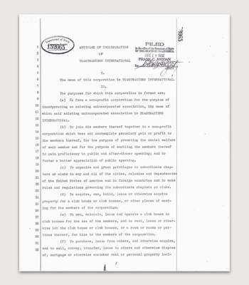 Articles of Incorporation