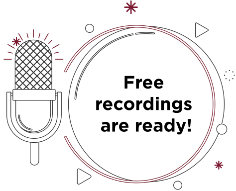 Free recordings are available