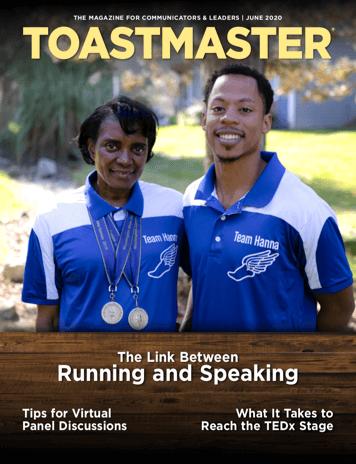 June Magazine Cover Photo of Runners