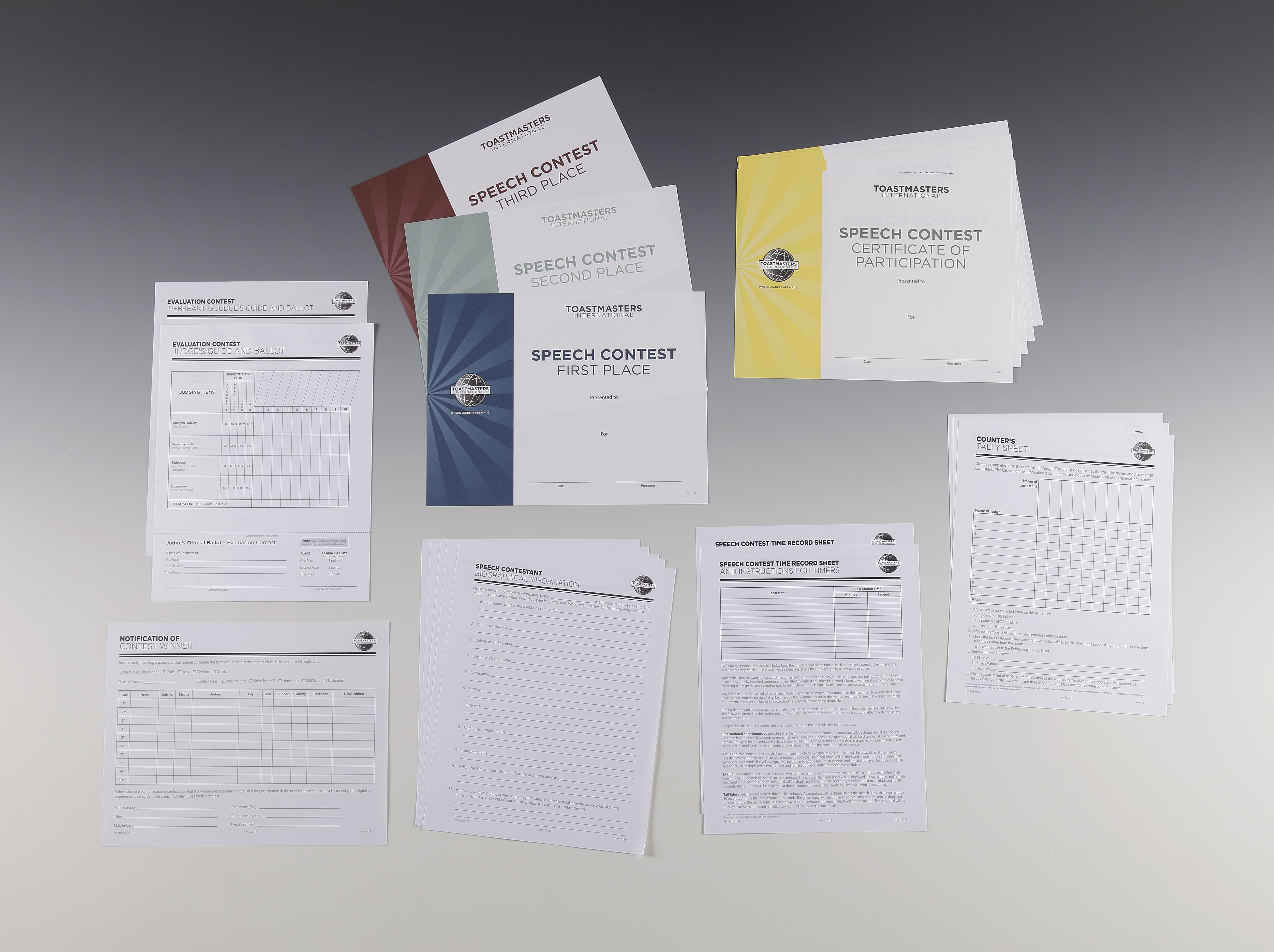 A First Timers Guide To Evaluation >> Evaluation Speech Contest Kit