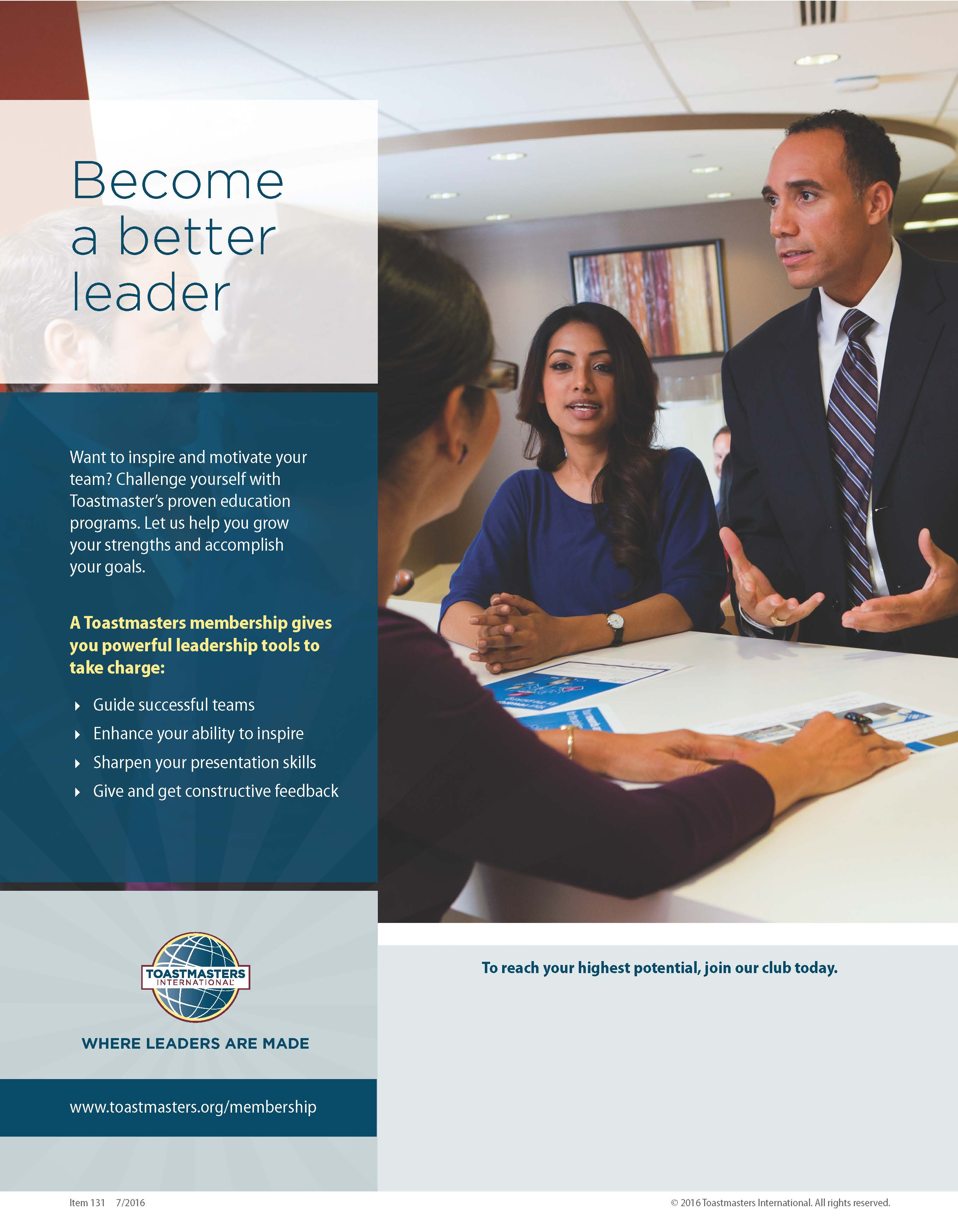 Become a Better Leader Flier