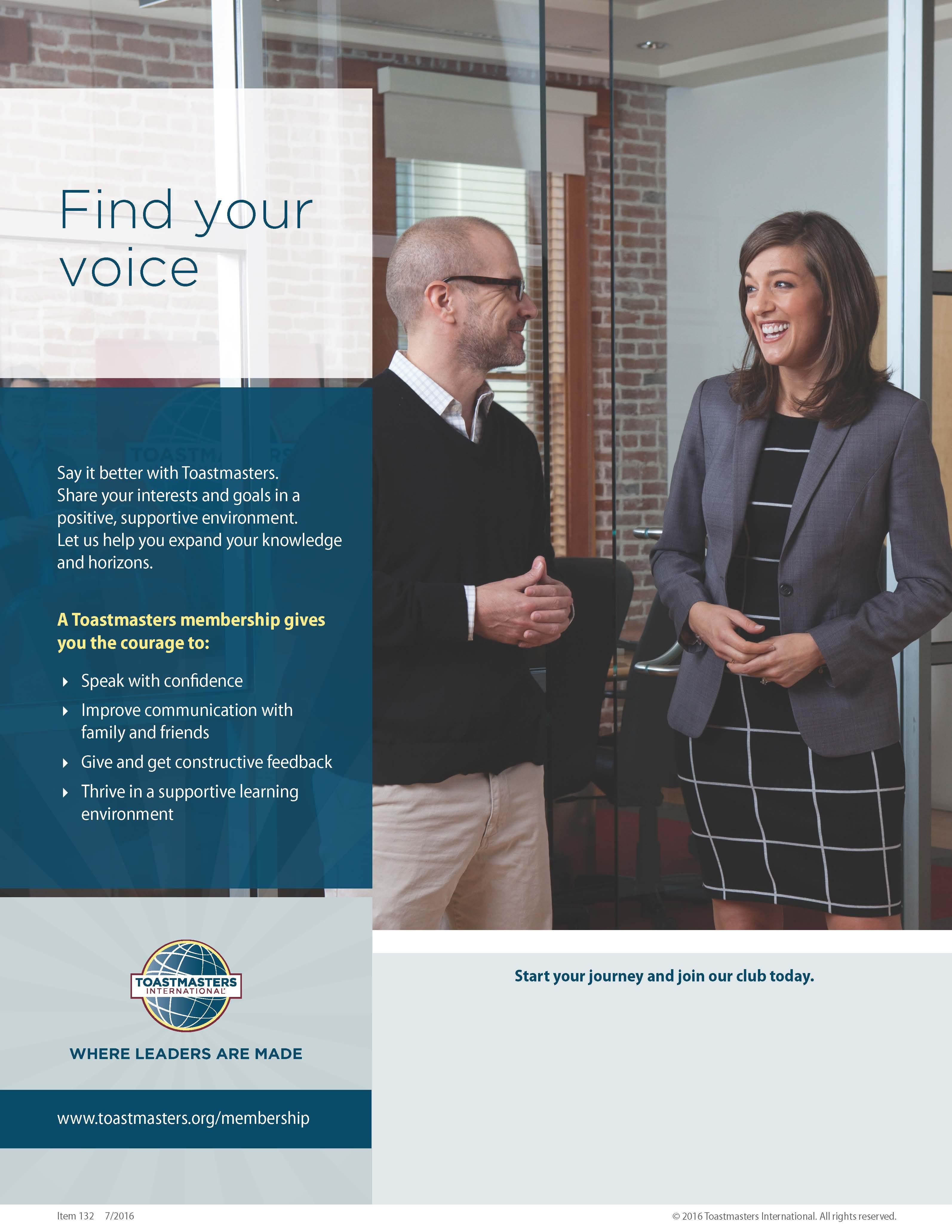 Find your voice Flier