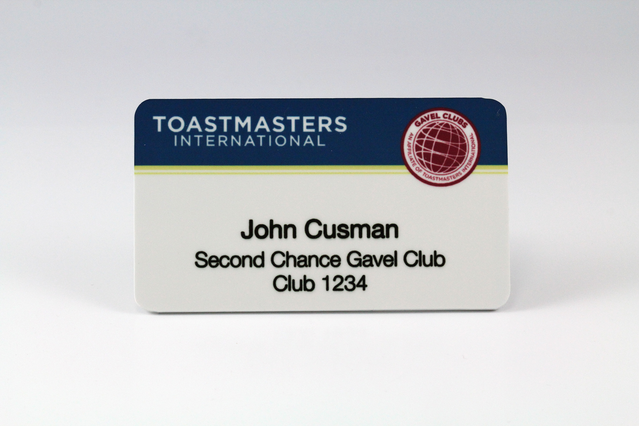 Gavel Club Member Badge (Magnetic Back)