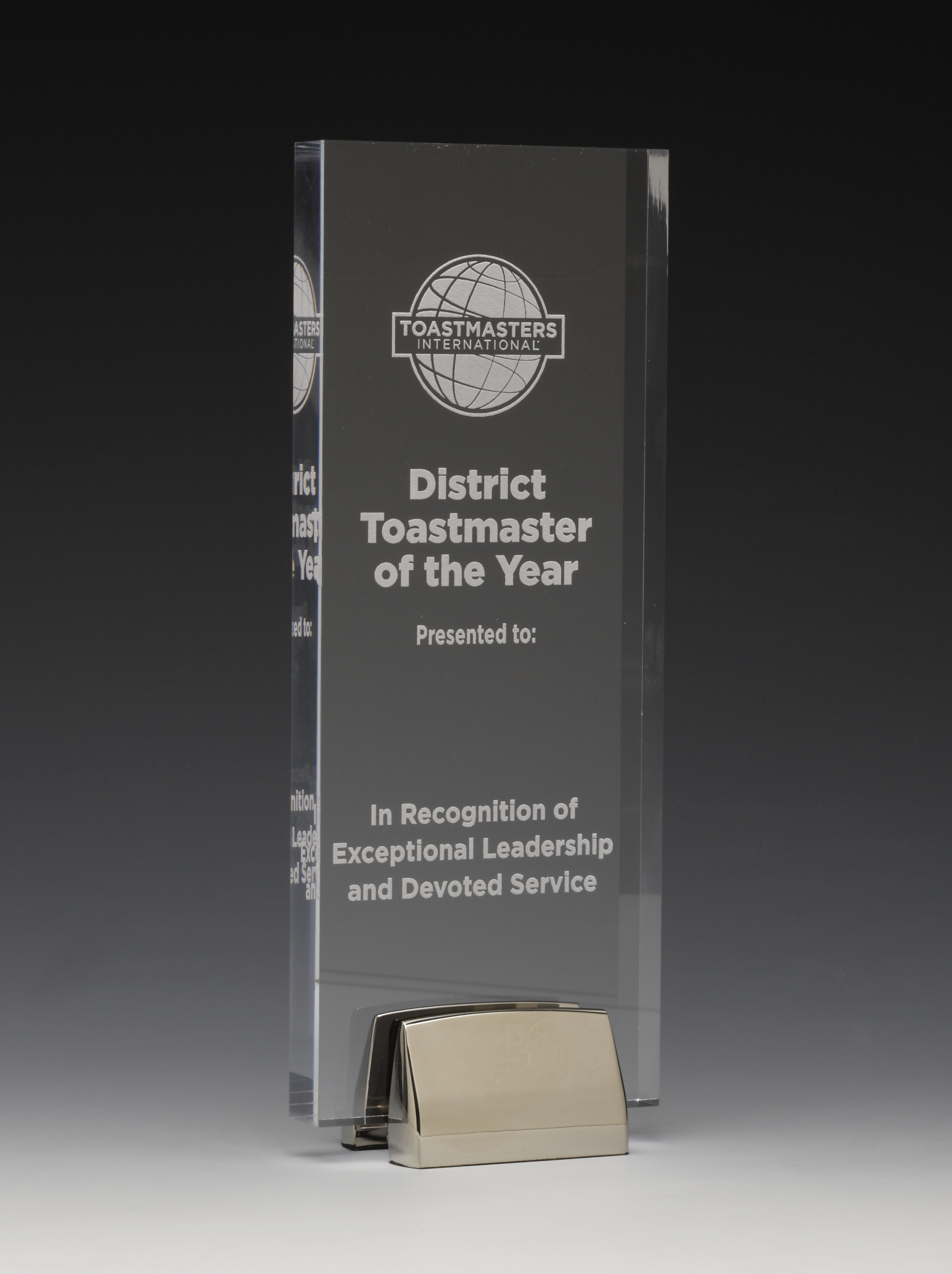 District Toastmaster of the Year Award