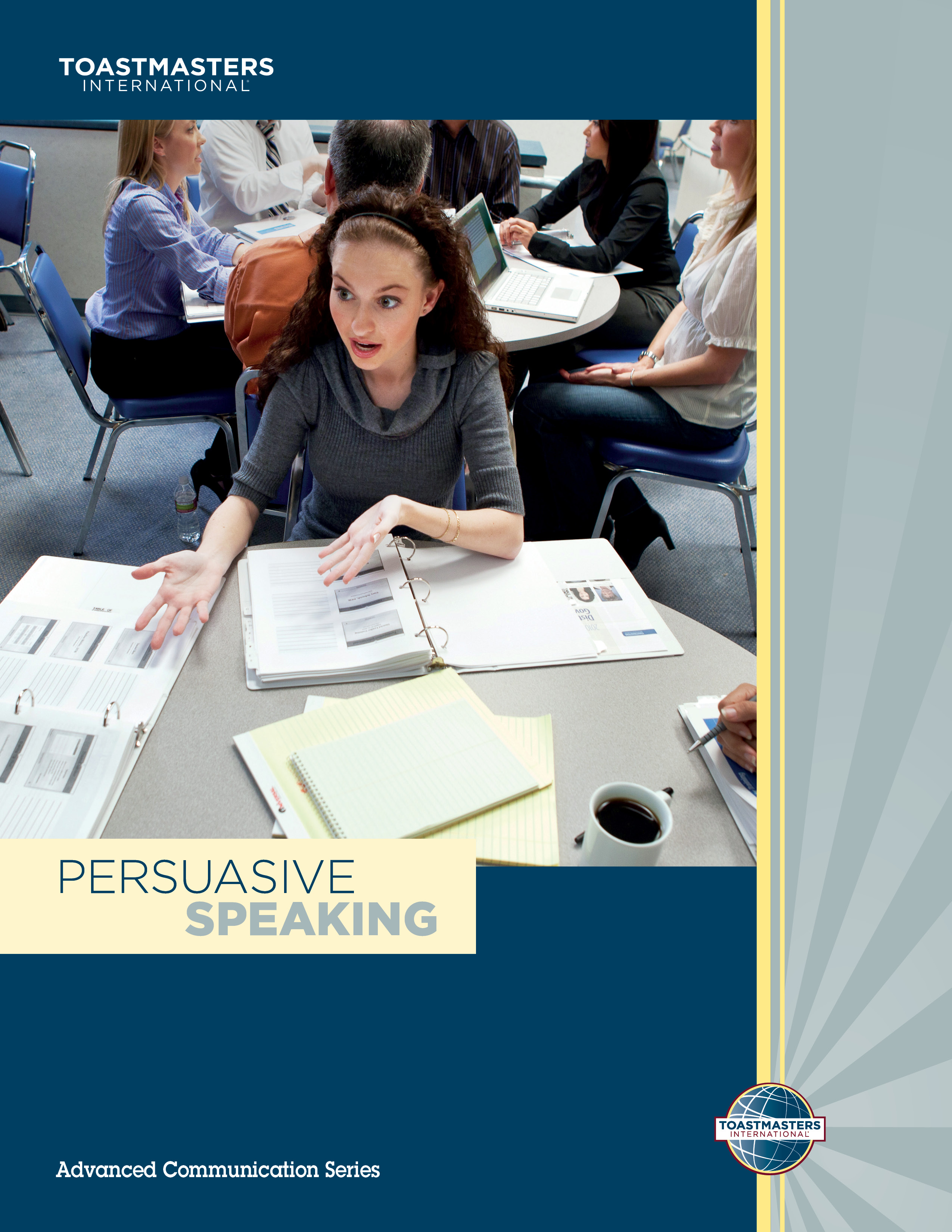 "Cover of the ""Persuasive Speaking"" advanced manual"