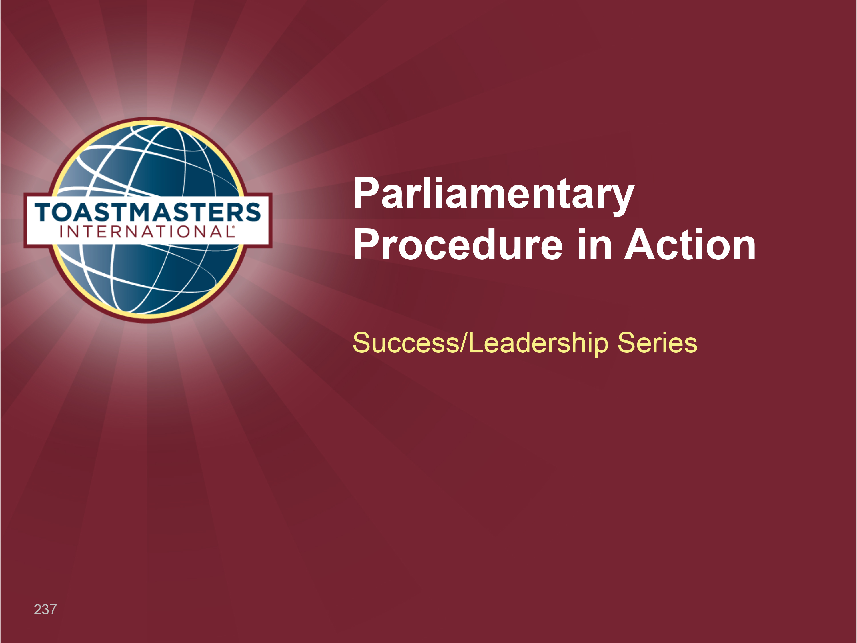 Parliamentary Procedure in Action Workshop (PPT)