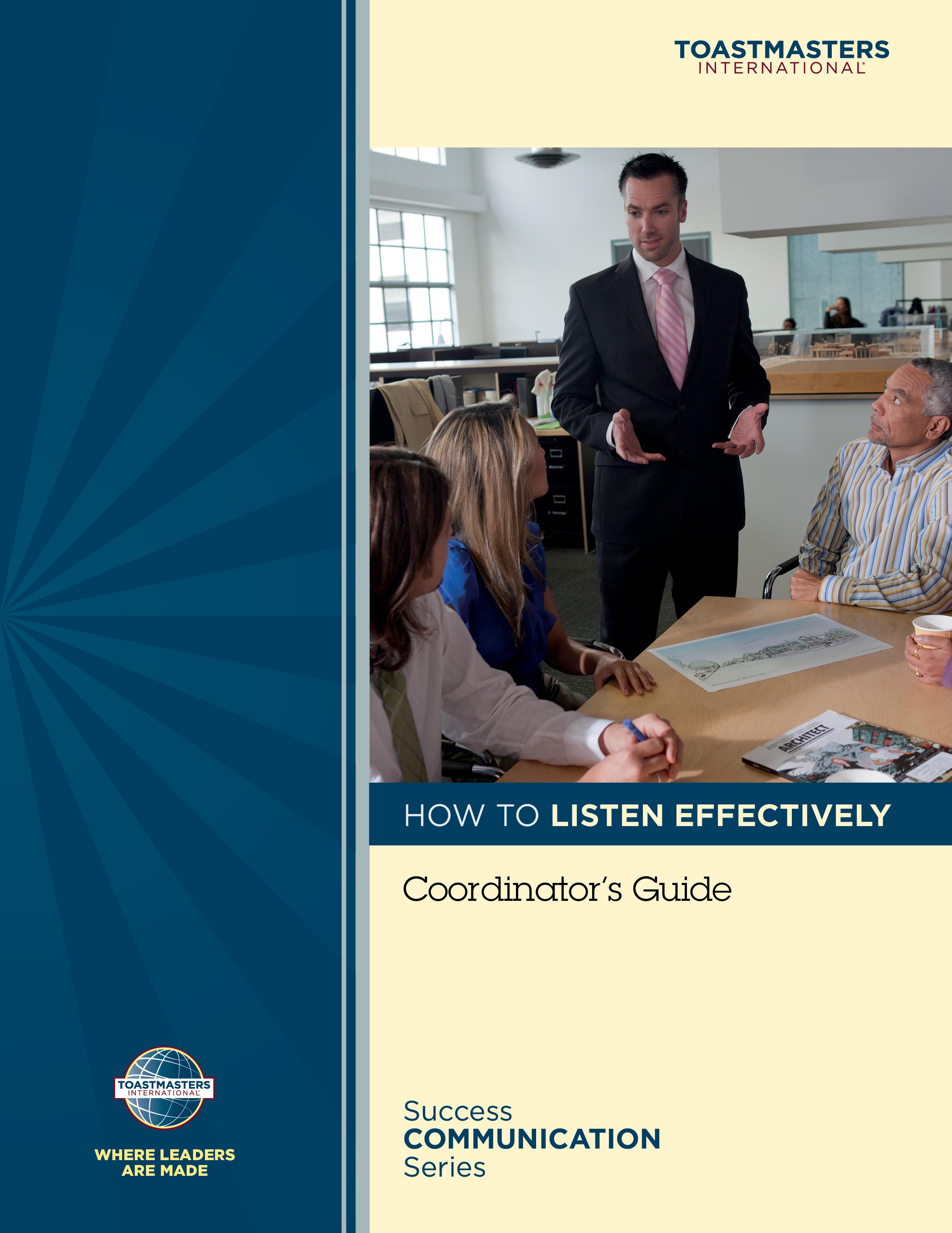 How to Listen Effectively Workshop Coordinator's Guide