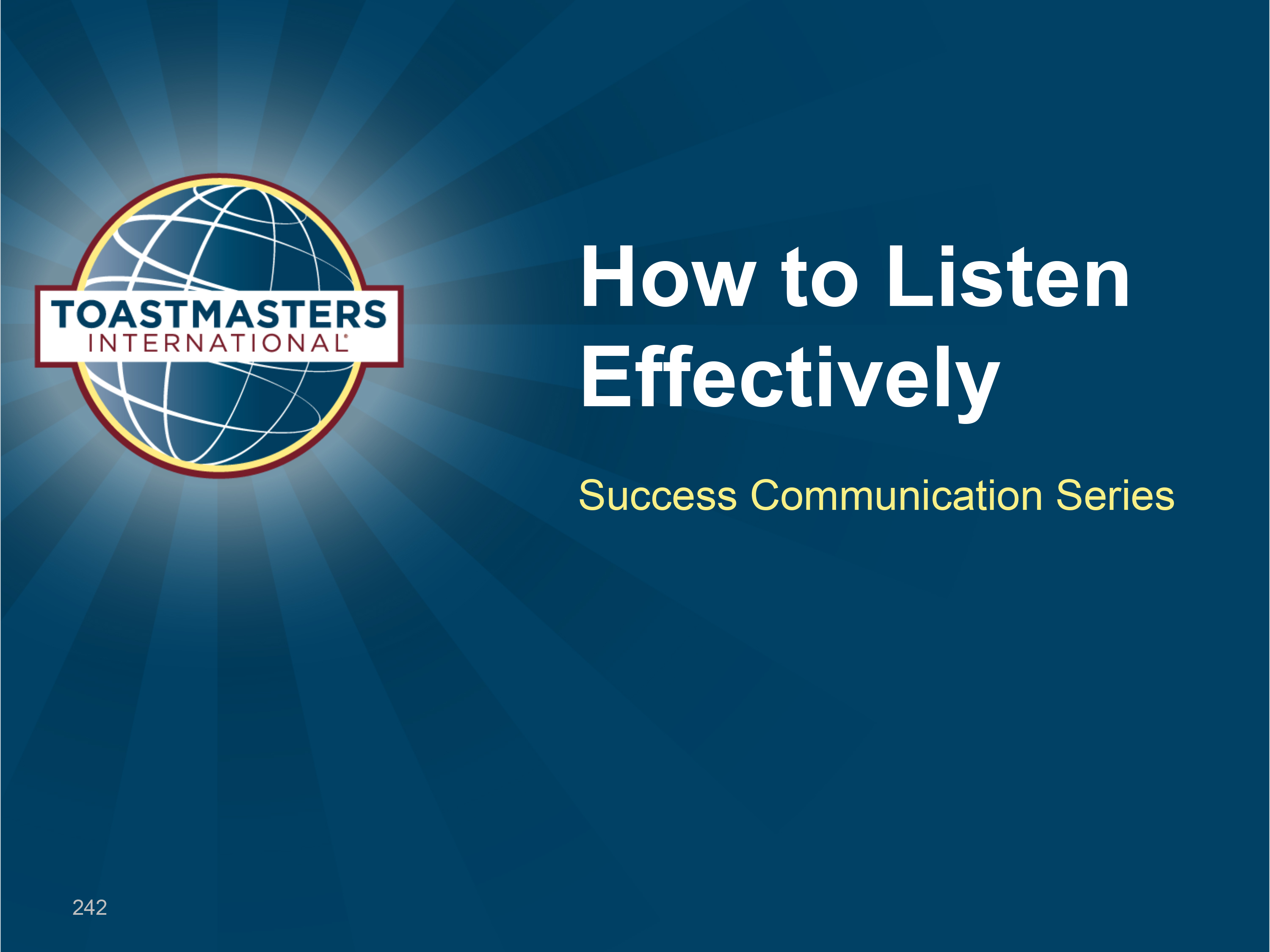 How to Listen Effectively Workshop (PPT)
