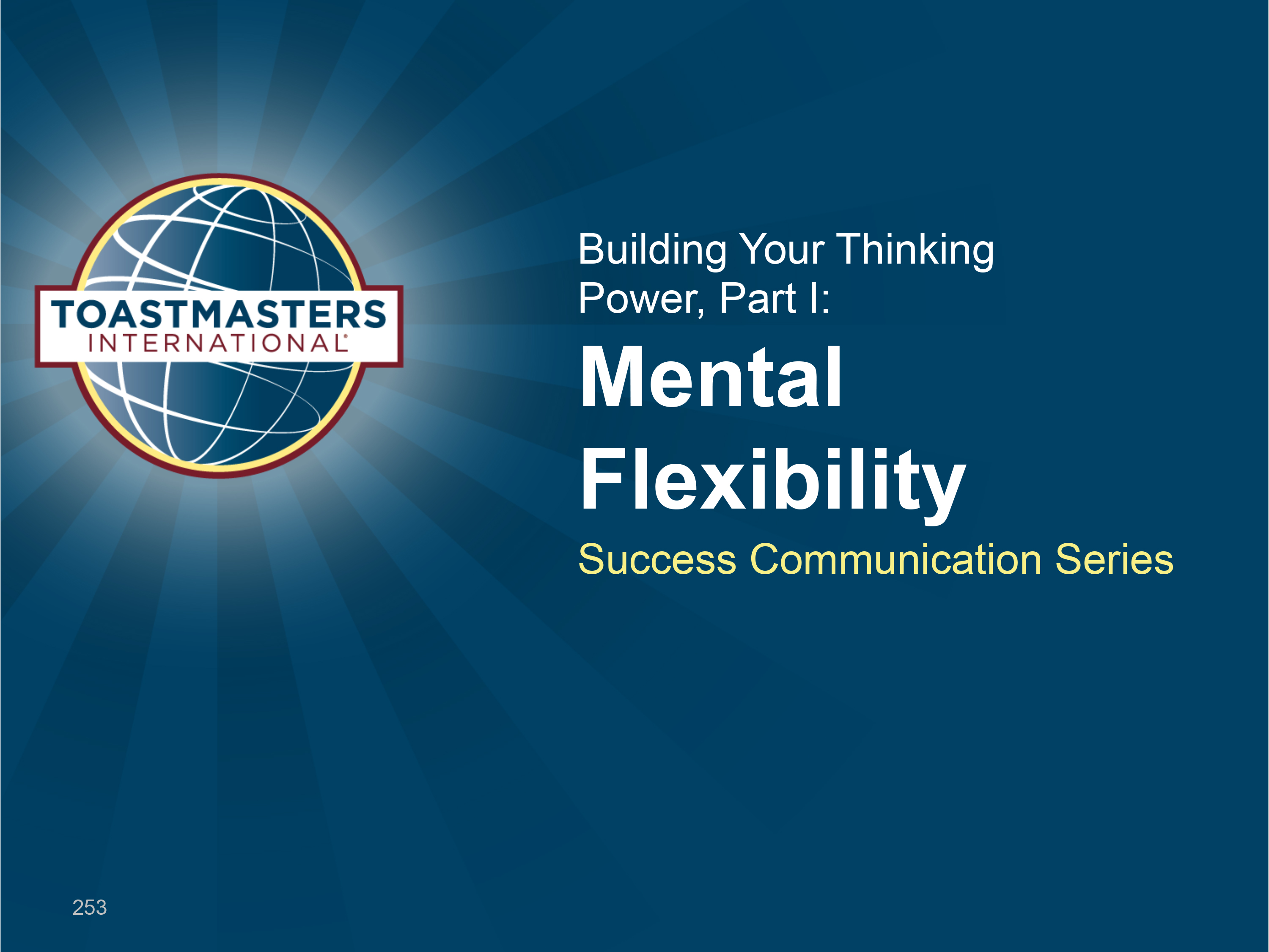 Building Your Thinking Power, I (PPT)