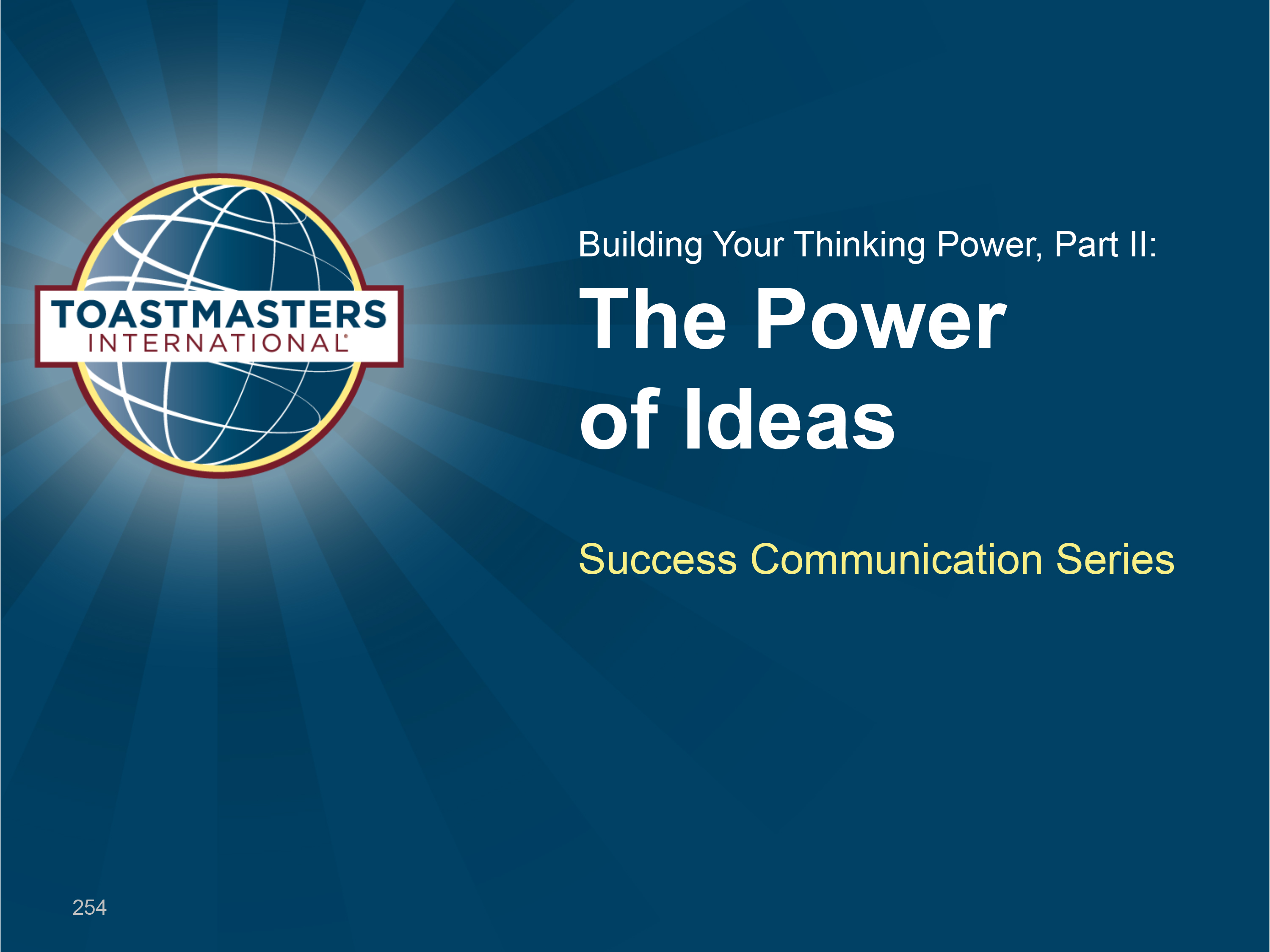 Building Your Thinking Power, II  (PPT)