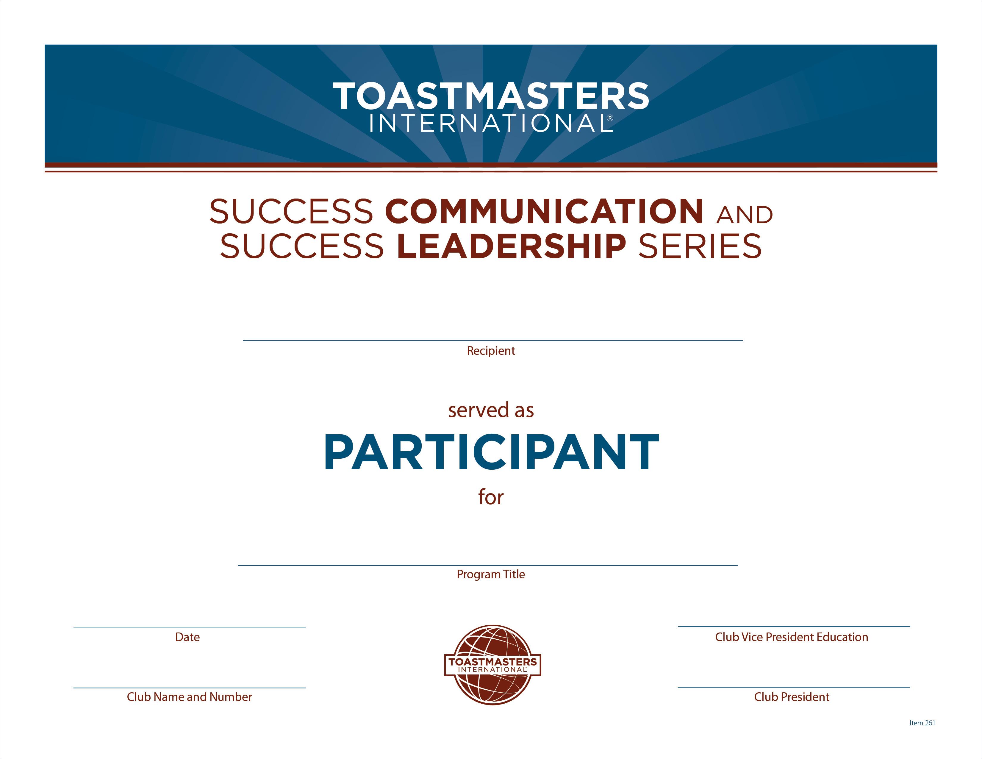 Participant Certificate - Success Communication and Success ...