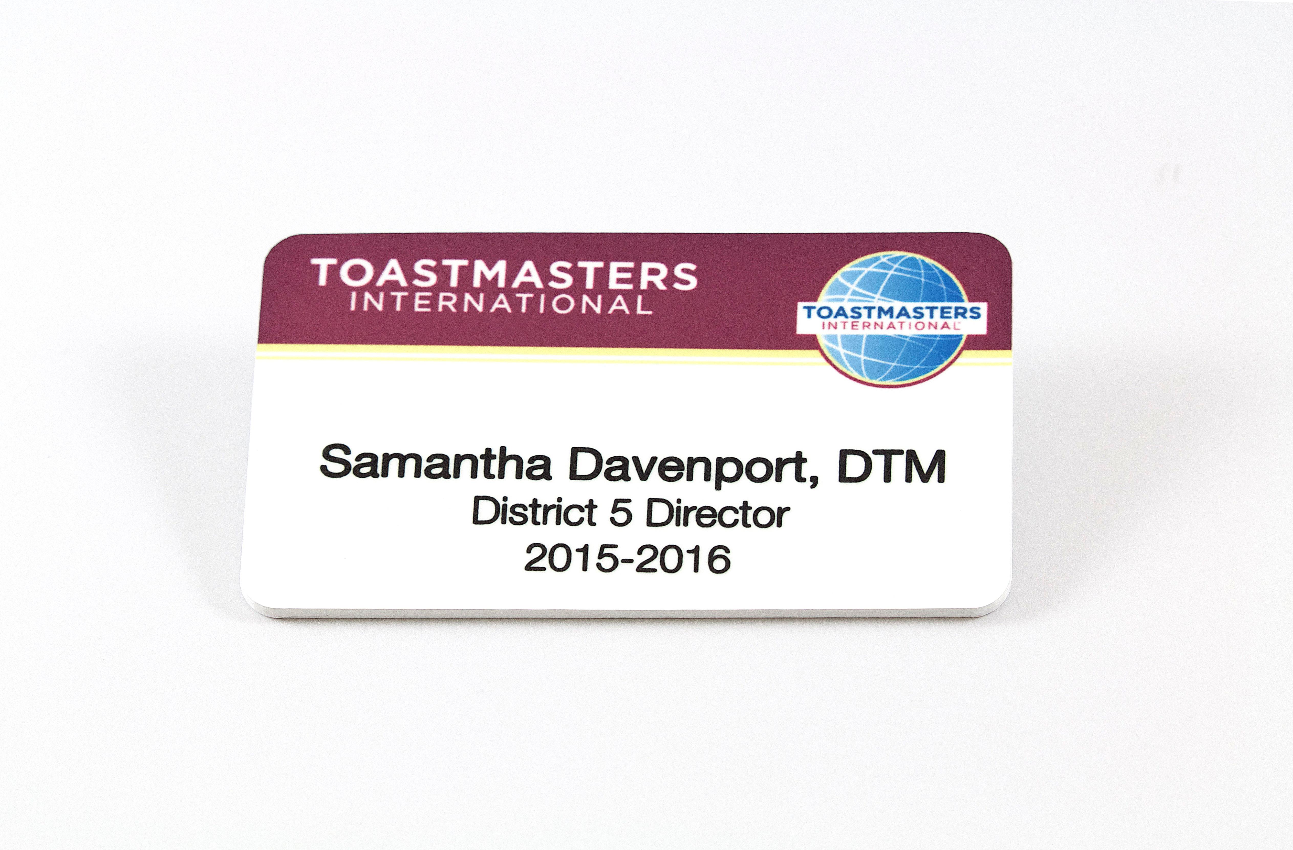 District Leader Badge (Magnetic back)