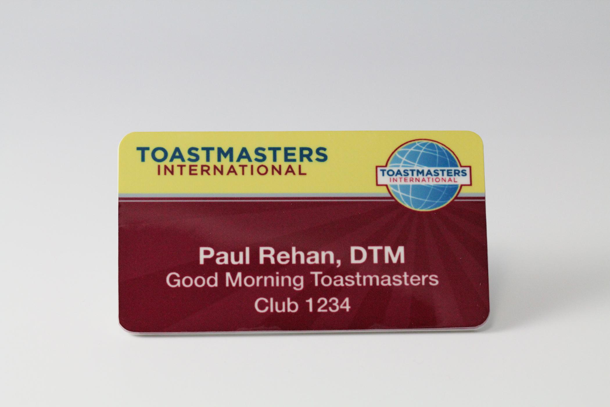 DTM Badge (Magnetic Back)