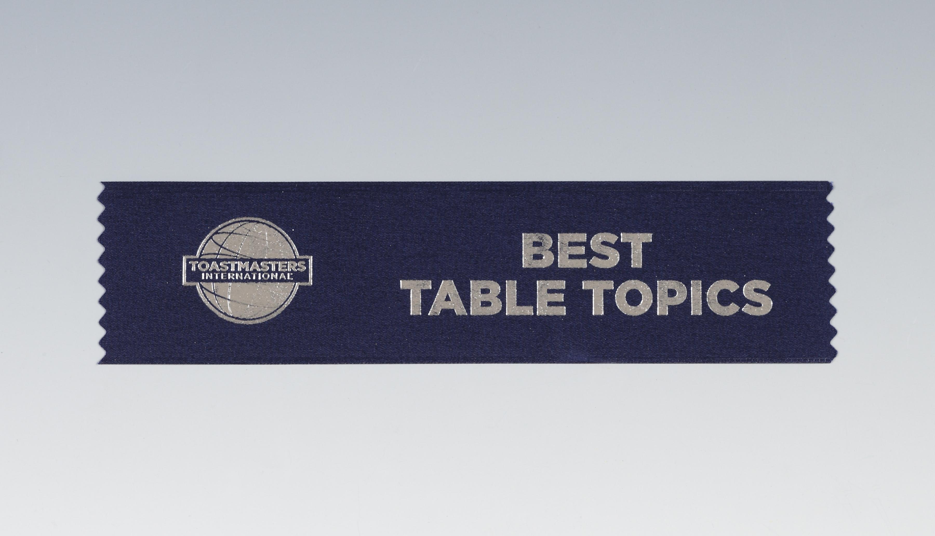 Best Table Topics™ Ribbon (set of 10)