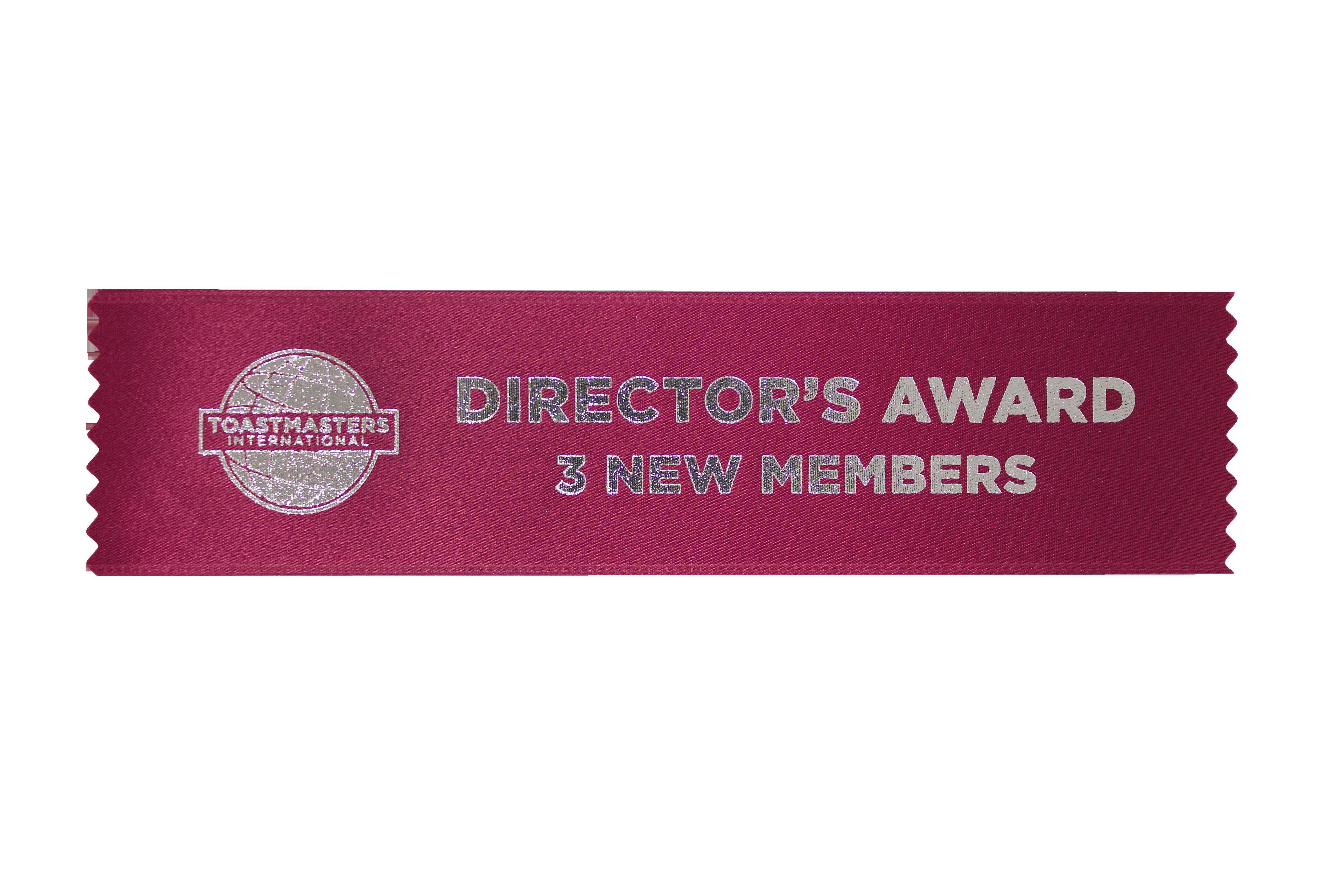Director's Award 3 New Members (Set of 10)