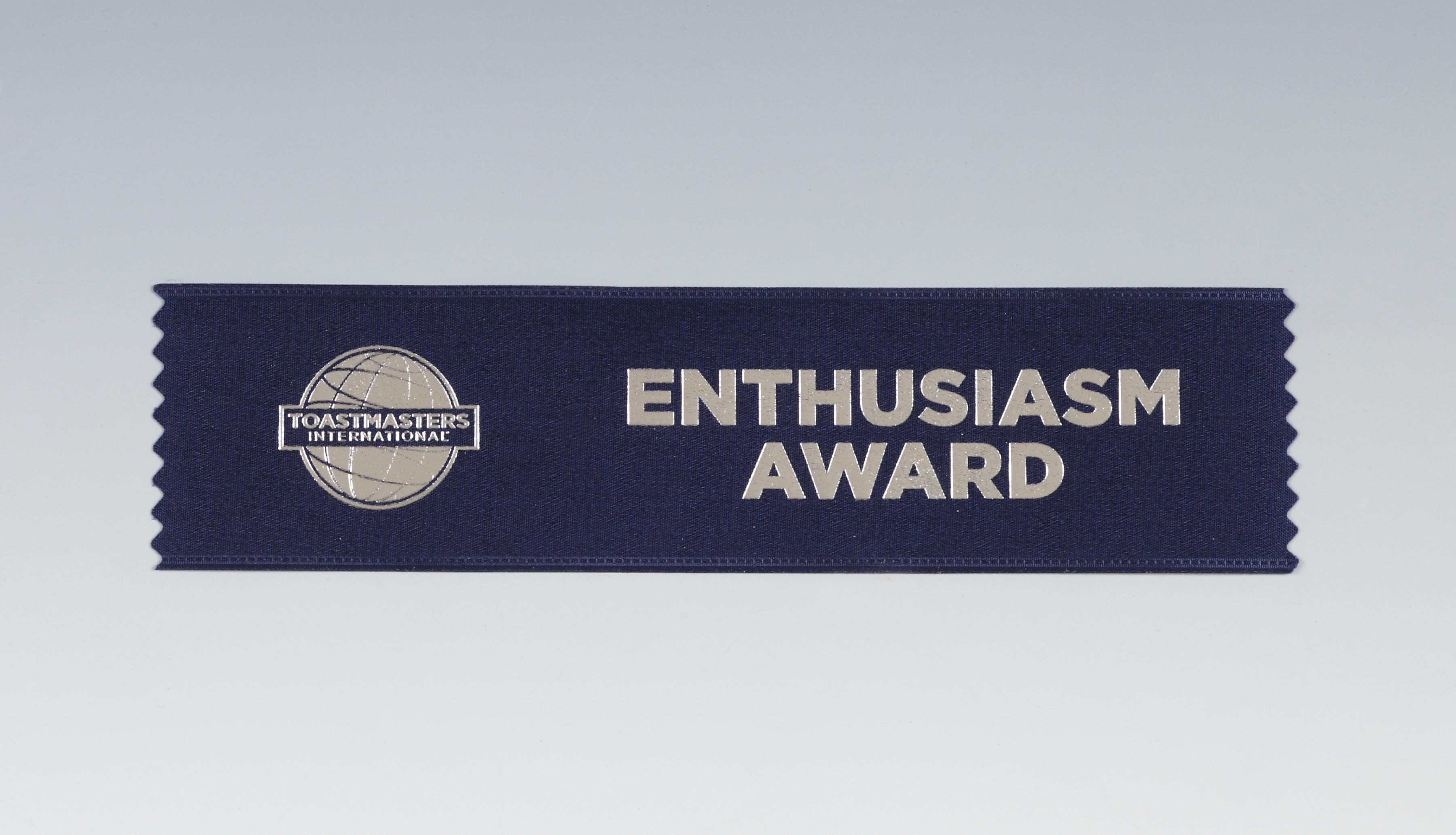 Enthusiasm Award Ribbon