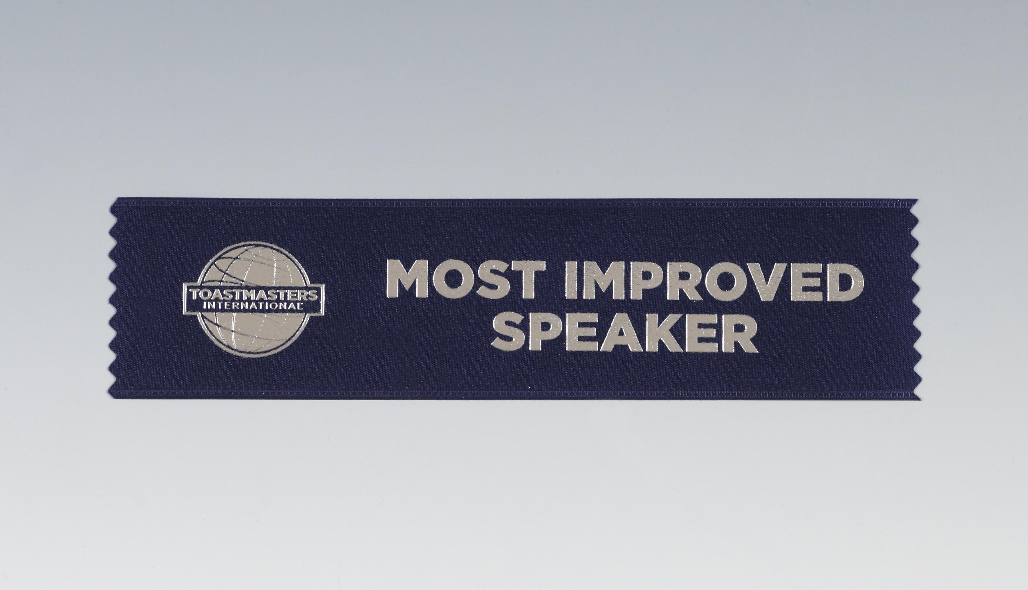 Most Improved Speaker Ribbon