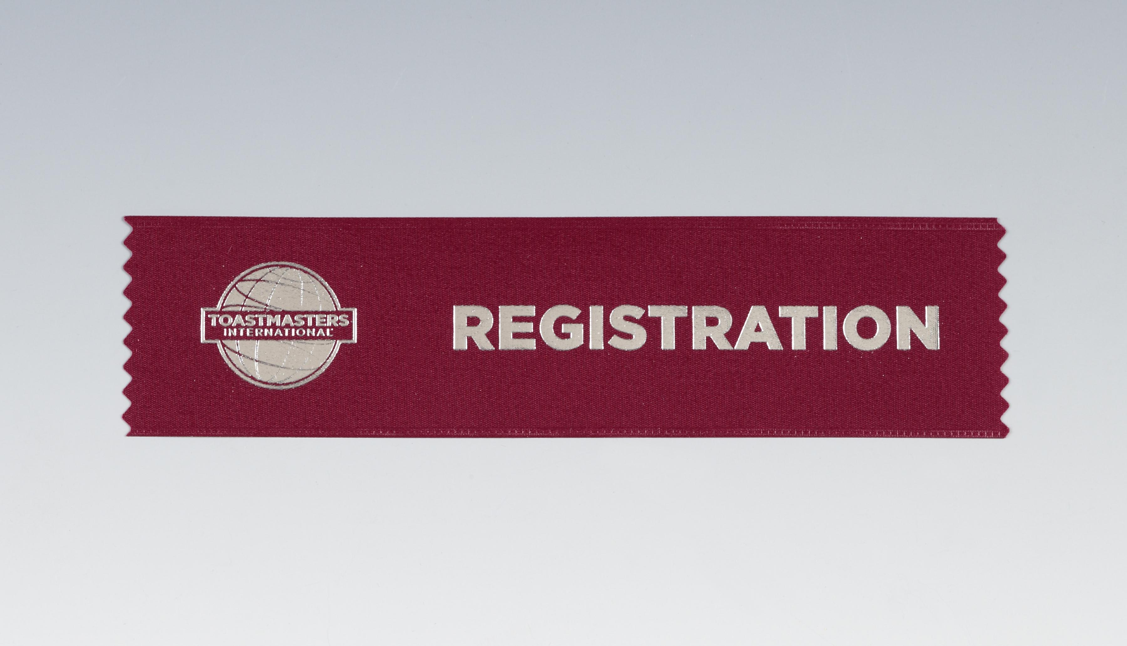 Registration Ribbon