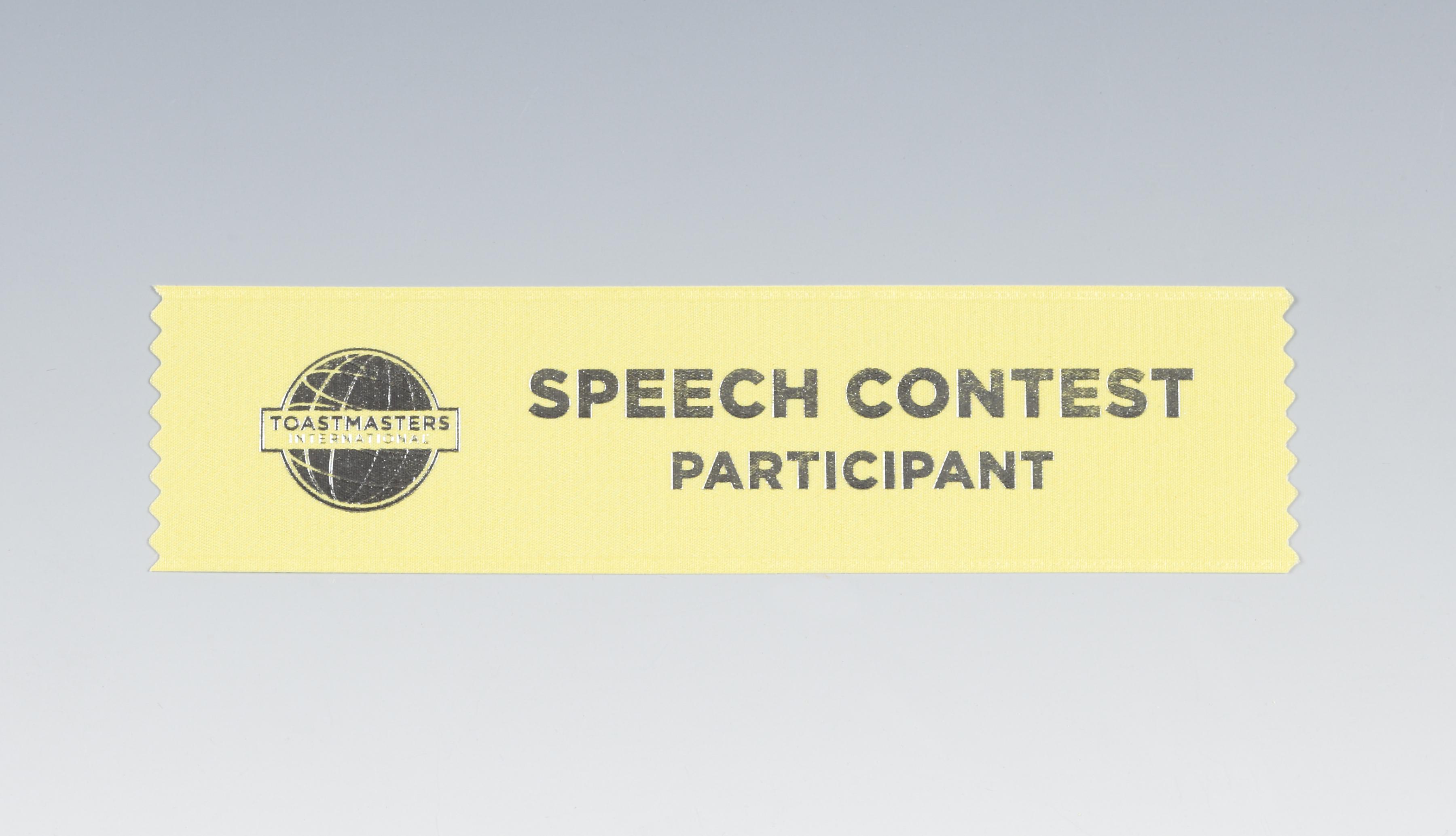 Speech Contest Ribbon (Participant)