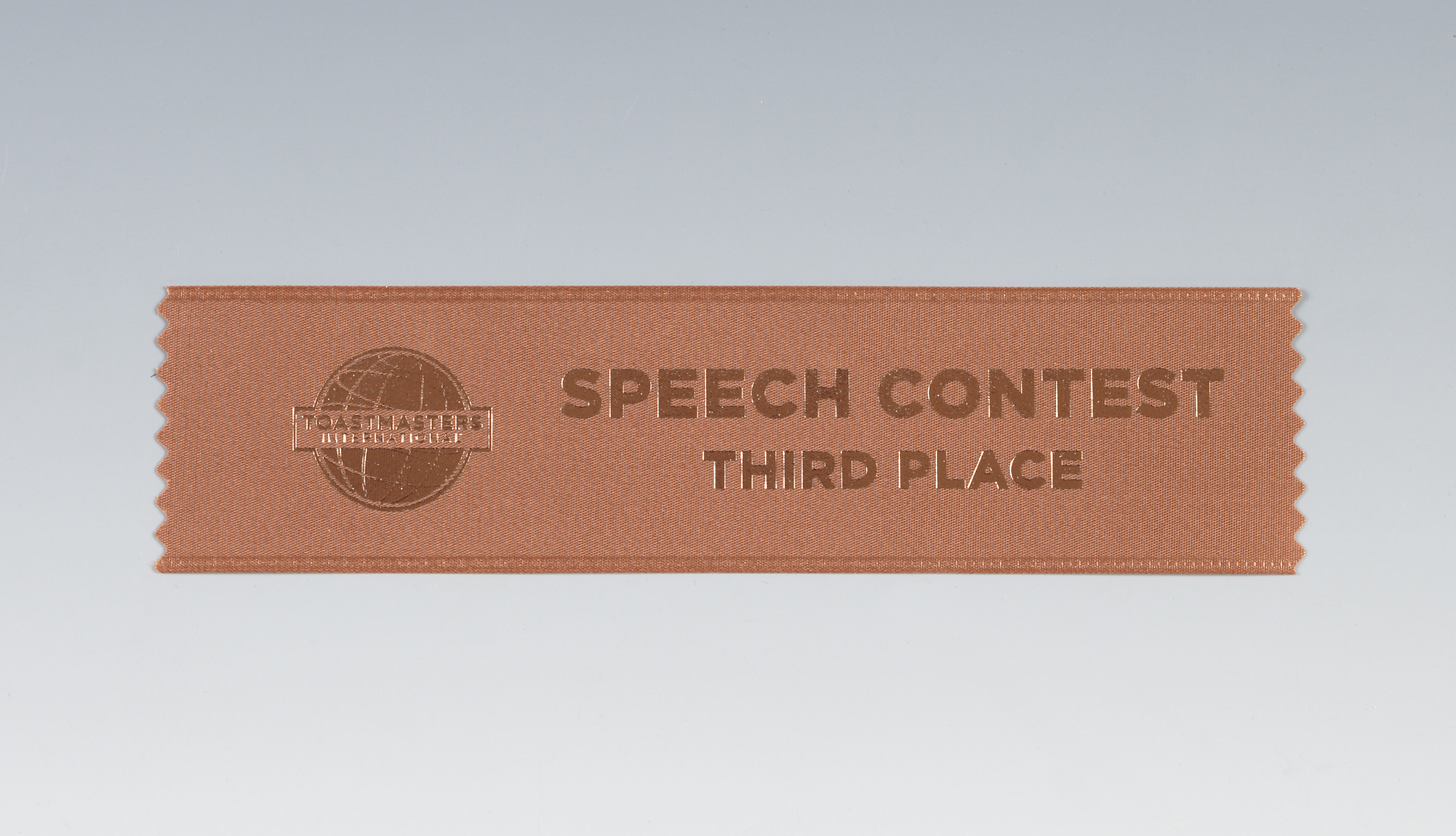 Speech Contest Ribbon (3rd Place)