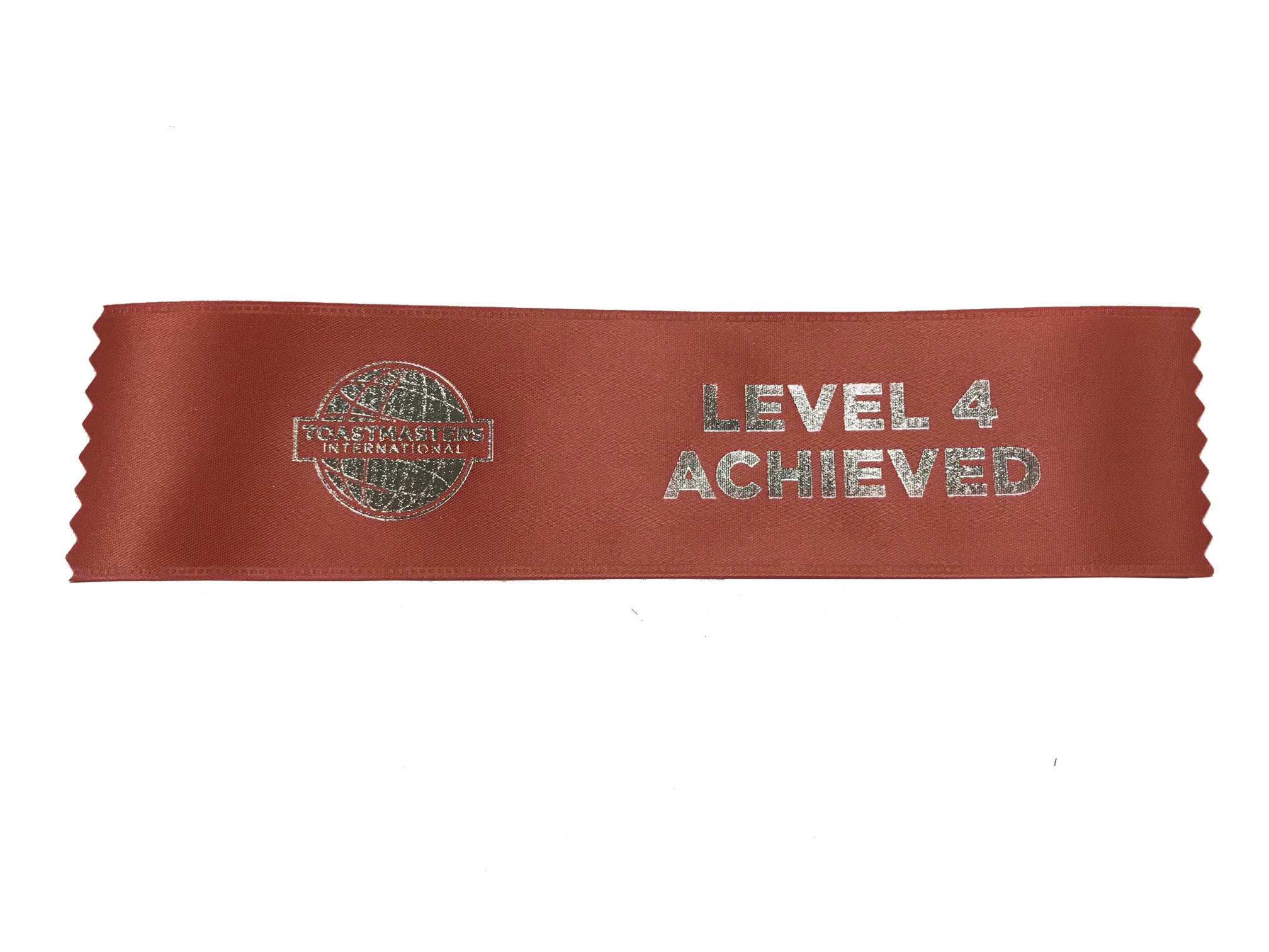 Level 4 Achieved Ribbon