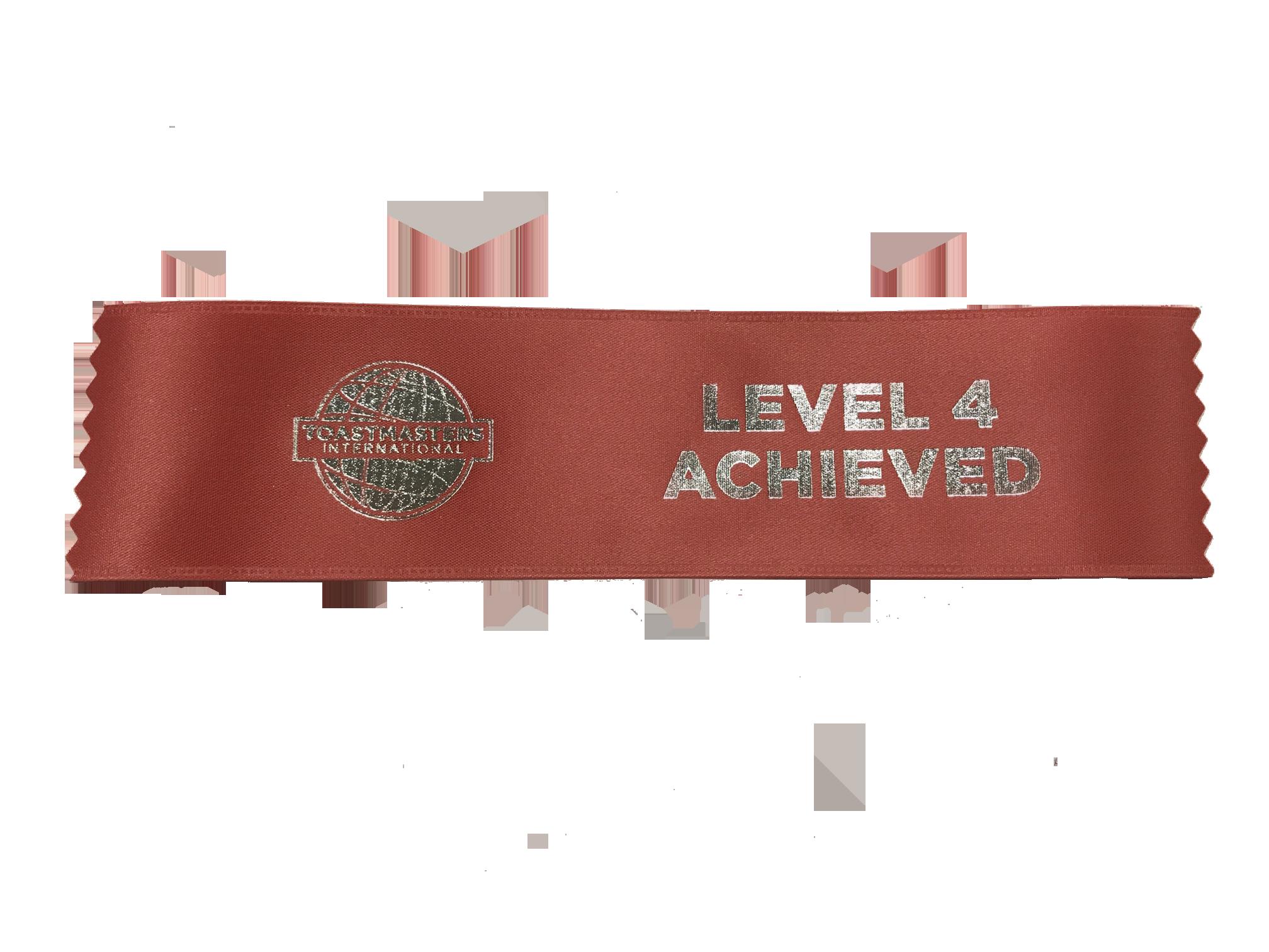 Level 4 Achieved Ribbon