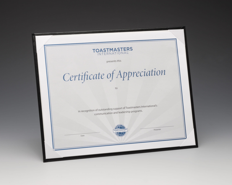 Easel Certificate Holder