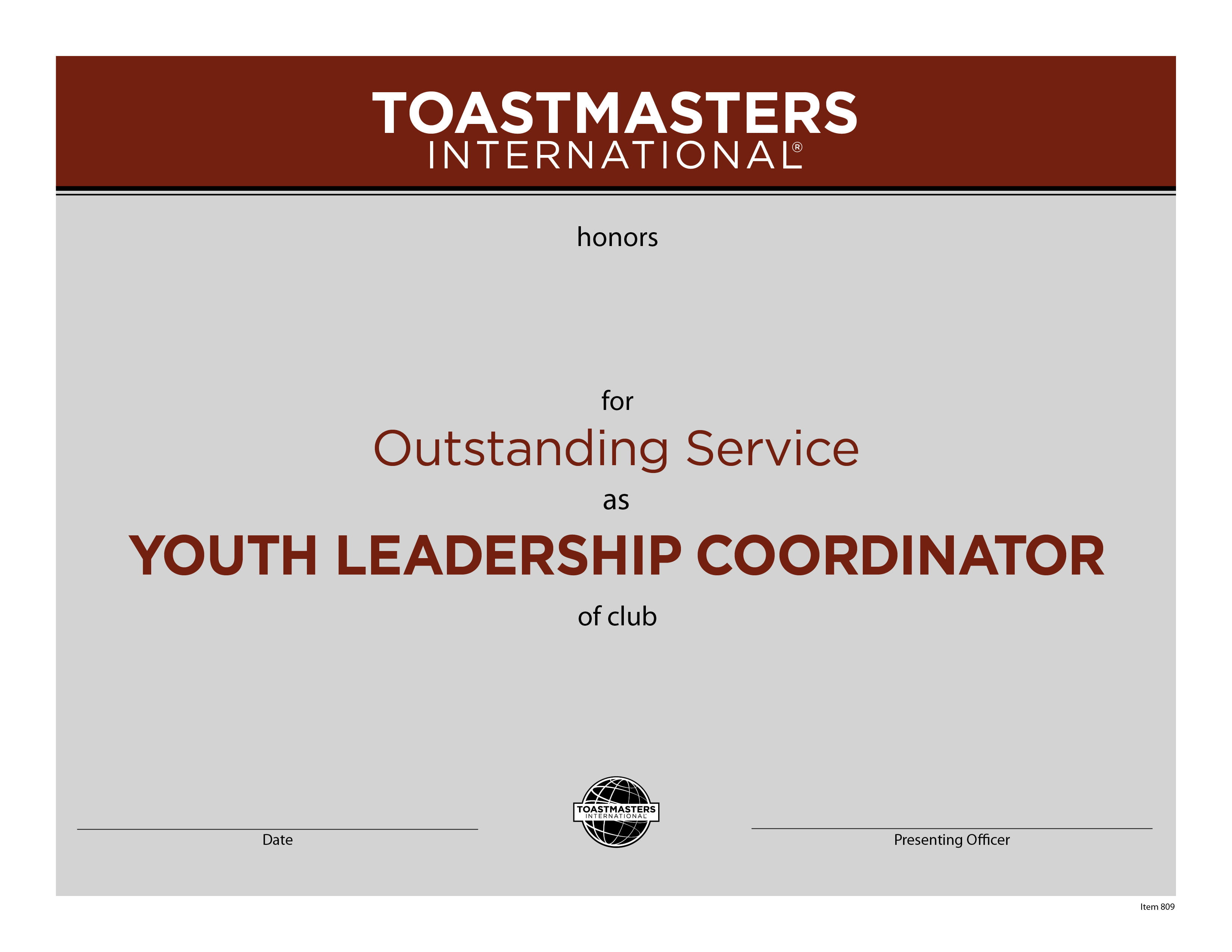 Youth Leadership Coordinator Certificate