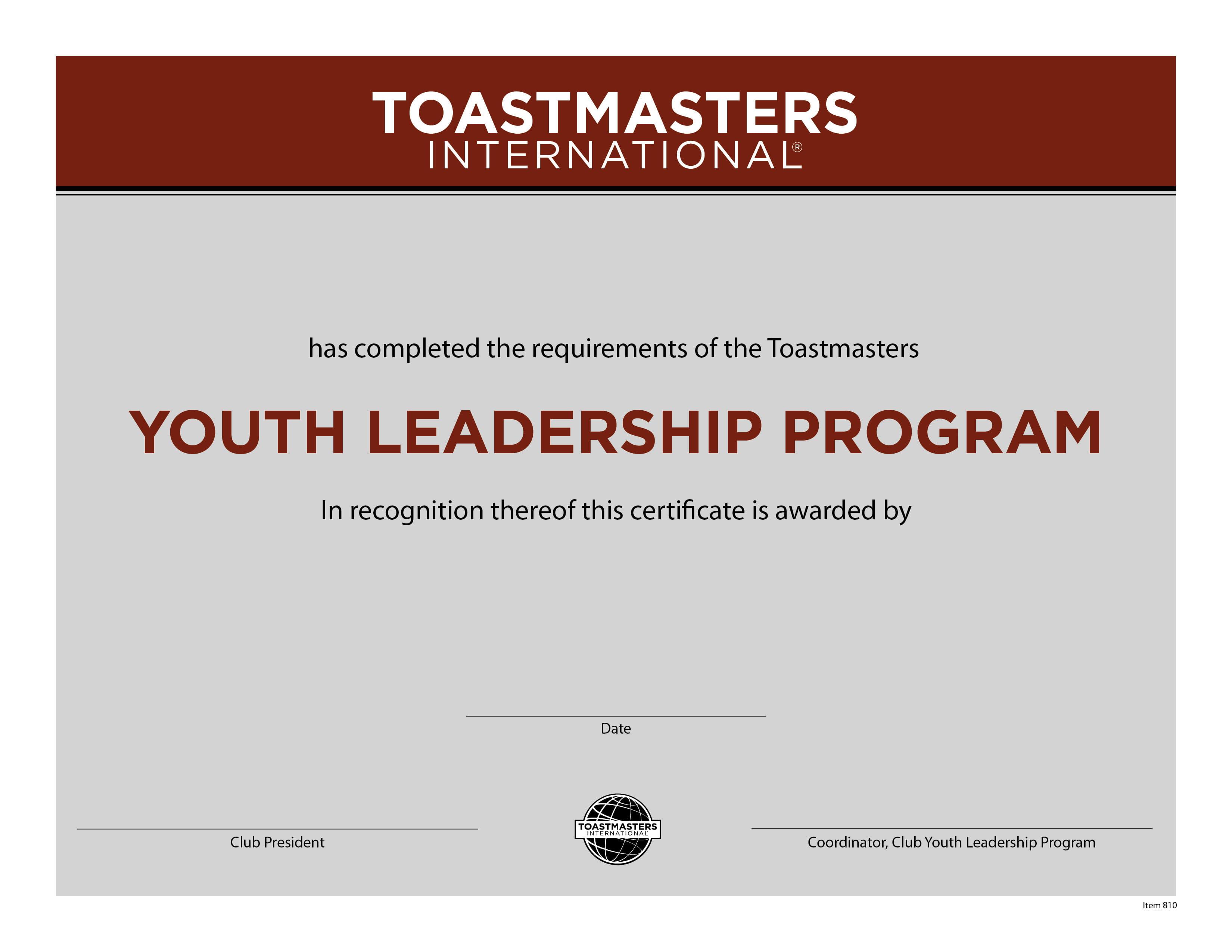 Leadership certificate roho4senses leadership certificate yelopaper Images
