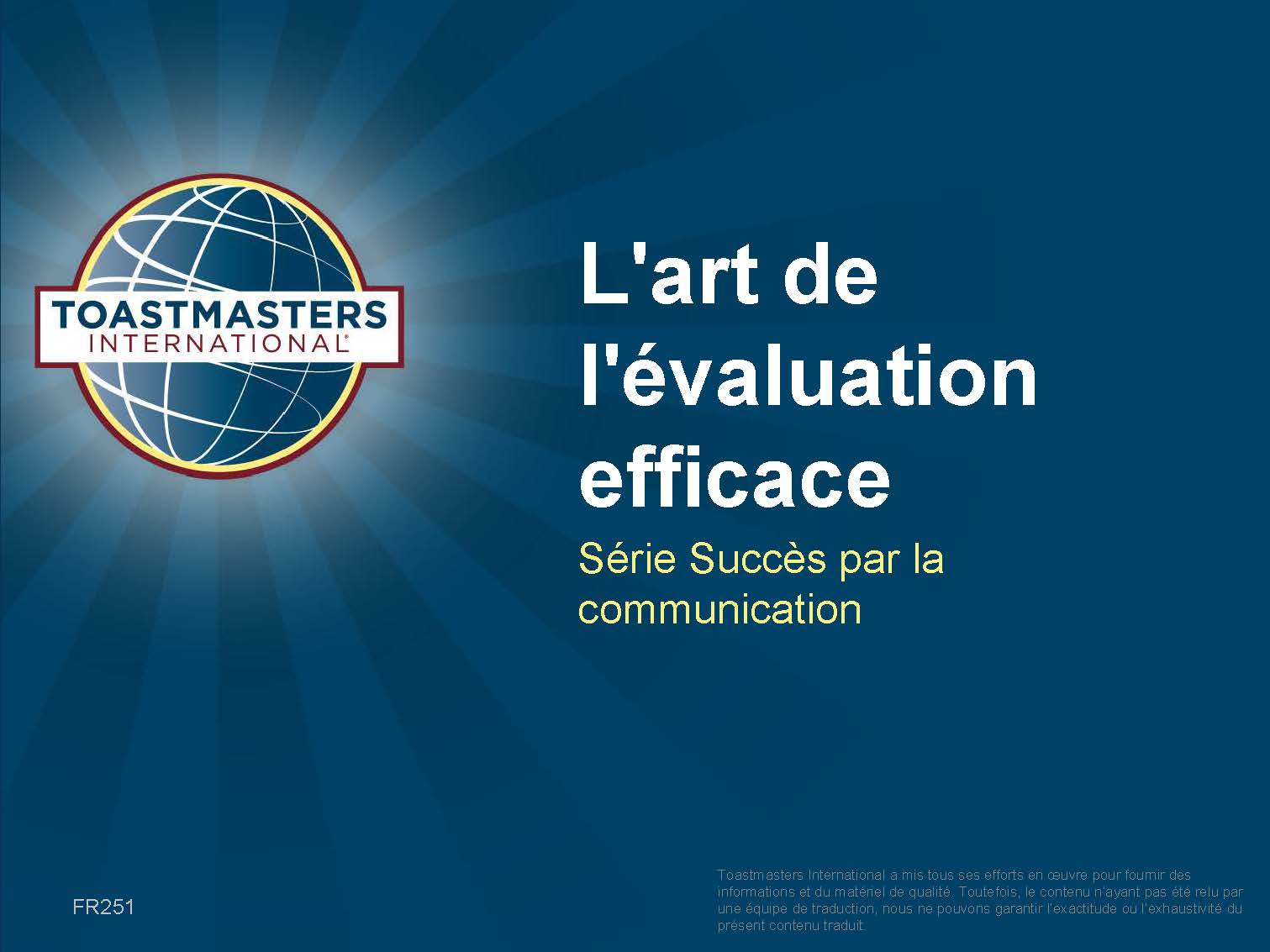 The Art of Effective Evaluation (PPT) (French)