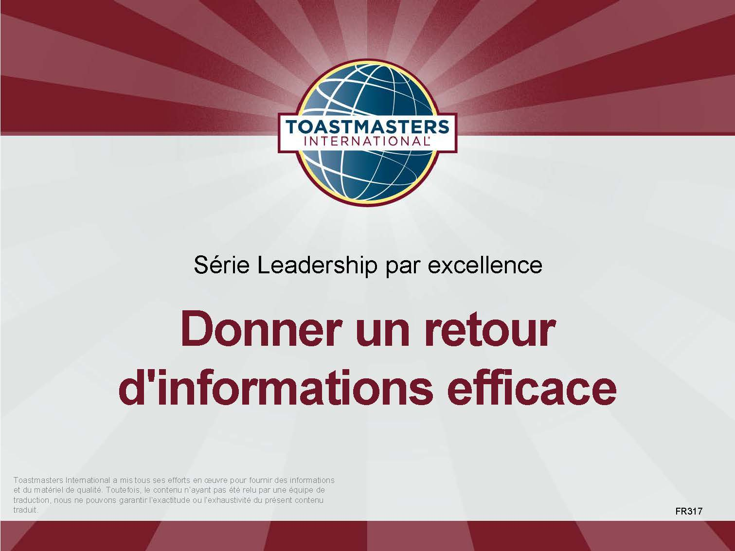 Giving Effective Feedback (French)