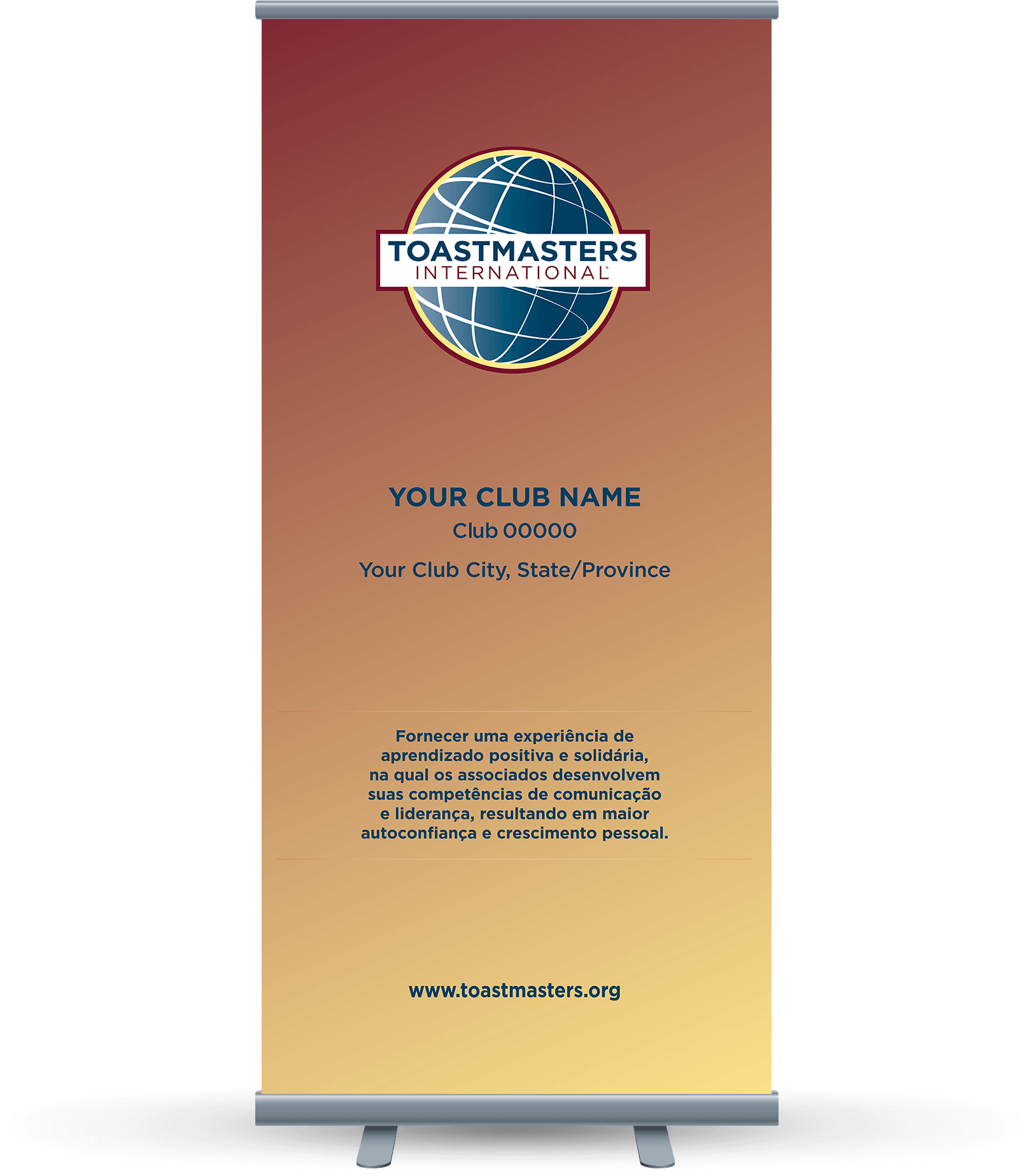 Custom-Club-Banner-Portuguese-Toastmasters-Yellow