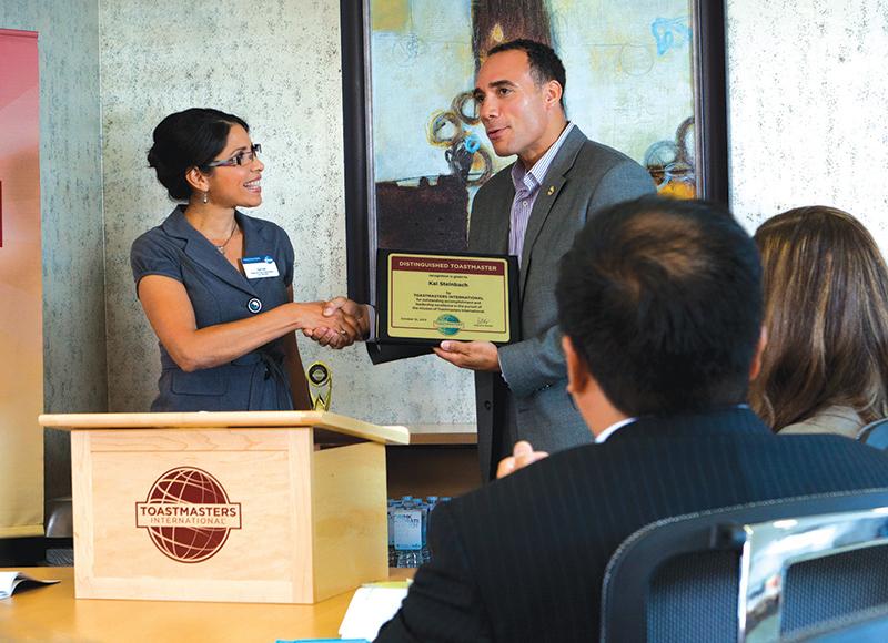 Accepting an award