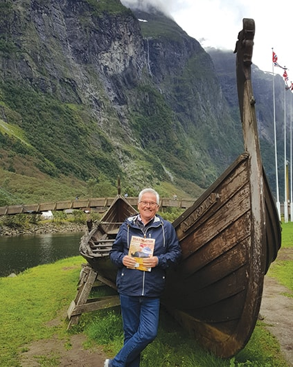Greg Hayes, ACB, ALB, from Beacon Hill, Australia, discovers a historic Viking ship in Voss, Norway.