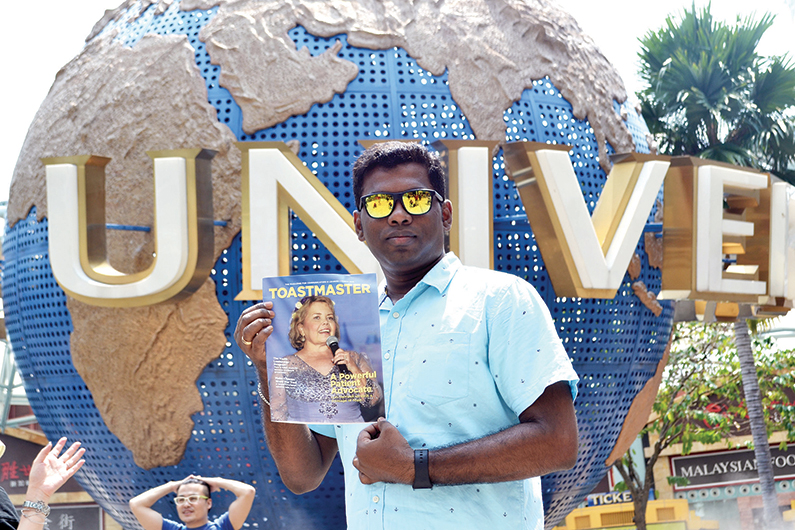 Raman Gurunthalingam Nirmal, ACB, from  Singapore, at Universal Studios Singapore.