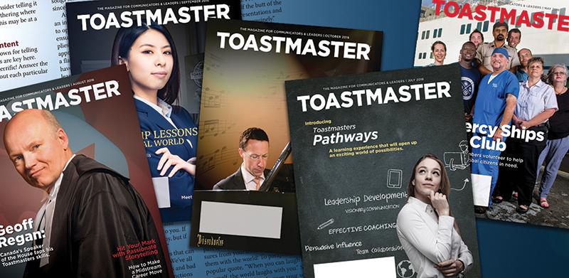 Toastmaster magazines